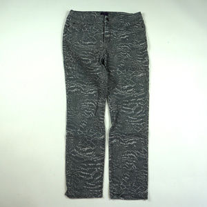NYDJ Sheri Skinny Size 6 Gray Animal Print Pants